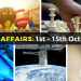 Improve Current Affairs: Know 55 Important Happenings Between 1st October to 15th October 2016