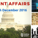 Strengthen Current Affairs: Know 61 Important Happenings Between 1st December to 15th December 2016
