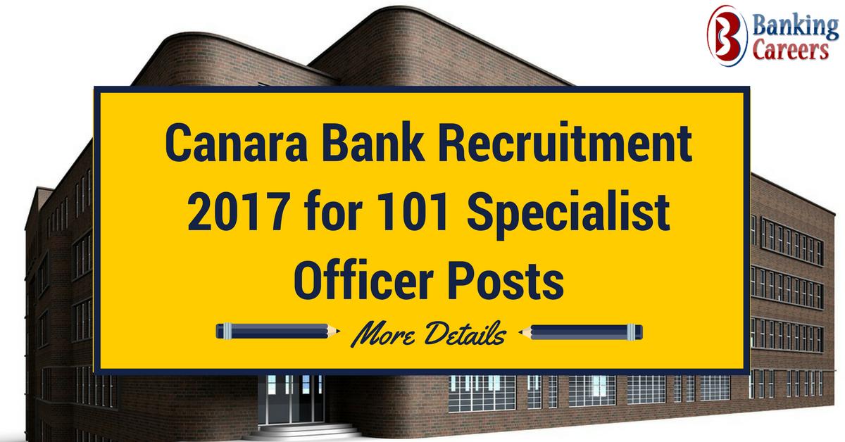 canara bank so