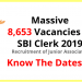 SBI Clerk Exam 2019: 8653 Junior Associates Openings